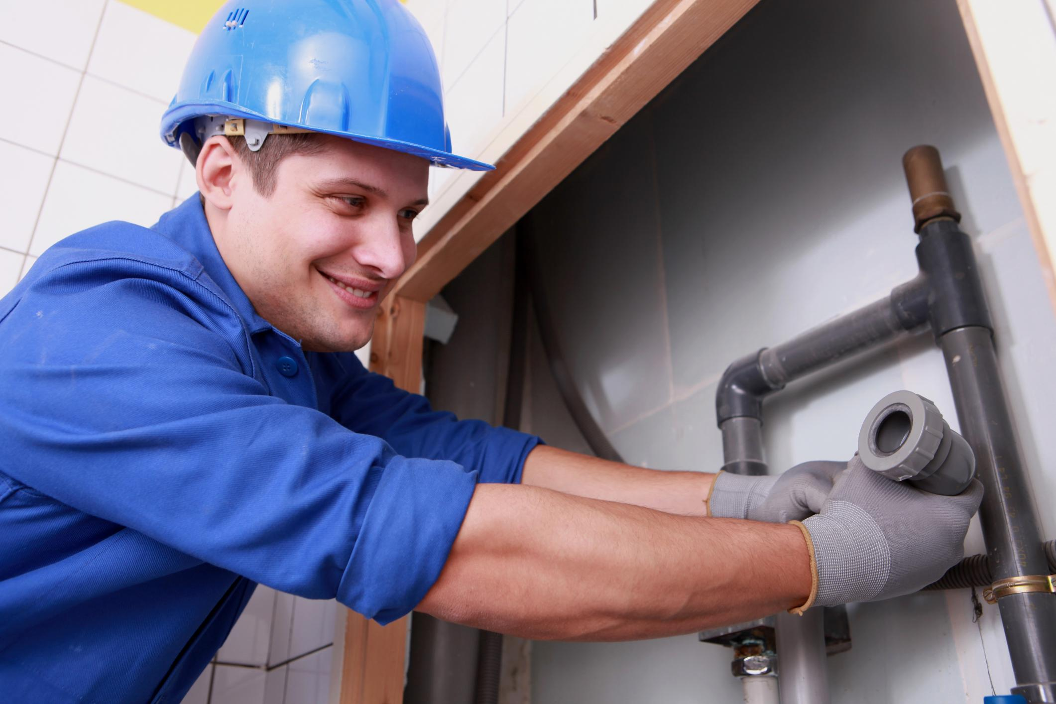 This is a picture of an emergency plumber.